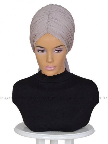 Amy Taupe Bomull Turban Cancer Krebs Ayse Turban 320013-1