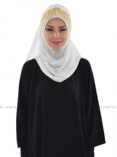Gina Vit Practical One-Piece Hijab Ayse Turban 324103-1