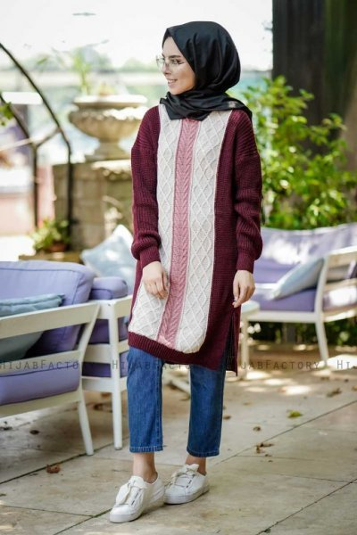 Maeve - Bordeaux Tuniek - Insirah